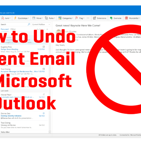 Unsend Email on Outlook