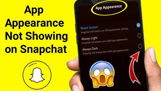 Get App Appearance On Snapchat
