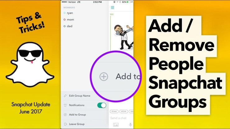 Remove Someone From Snapchat Group