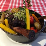 My lamb shank and fresh veggies