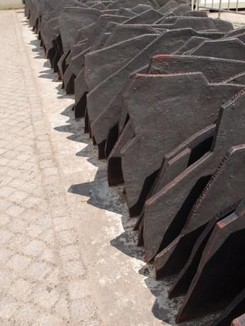 Memorial slate outside Reichstag