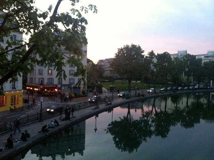 Summer sunset as it curves towards the 19th arrondissement