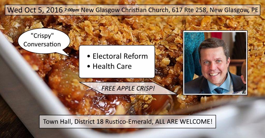 Crispy Conversation Town Hall - District 18 Rustico-Emerald PEI