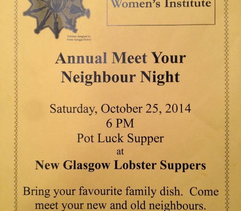 2014 Meet Your Neighbour Night - New Glasgow Womens Institute