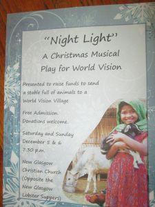 Night Light - World Vision Christmas Musical - New Glasgow Christian Church 2015