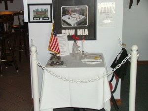Table setting for POW/MIA
