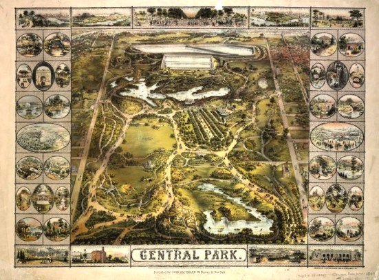Map of Central Park, 1863