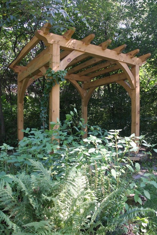 Timber Frame Pergolas Enhance Any Setting New Heritage