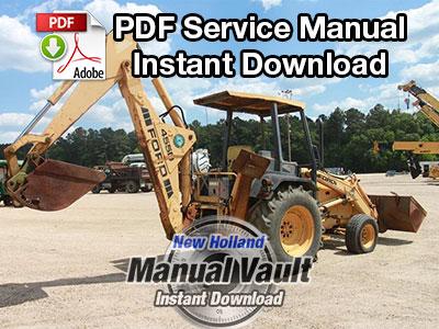 Ford 455D, 555D, 575D, 655D, 675D Backhoe Loader Tractor Repair Manual