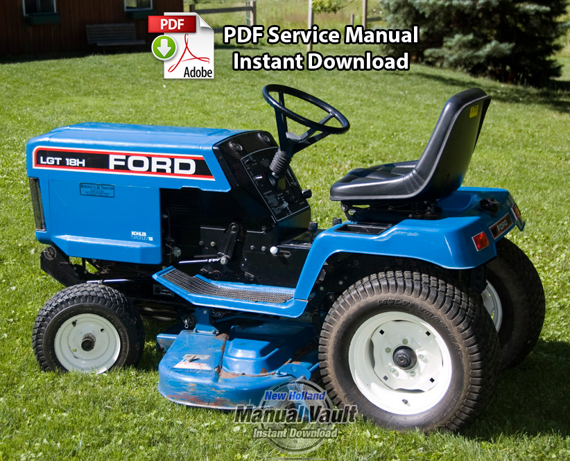 Ford lgt12 lgt14 lgt17 lgt18 lawn tractor service manual for Ford garden tractor