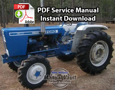 Ford 1100, 1200, 1300, 1500, 1700, 1900 Tractor Service Manual