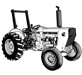 Ford Industrial Tractor Service Manual 1975-1983