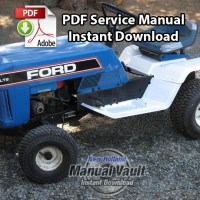 Ford LT8, LT1, LT11H Lawn Tractor Service Manual