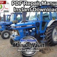 Ford 2910, 3910, 4110, 4610, 5610, 6610, 6710, 7610, 7710, 8210 Tractor Repair Manual