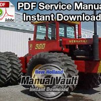 Ford Versatile 700, 750, 800, 825, 850, 900, 950 Series II Tractor Service Manual