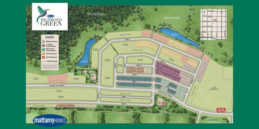 Richmond Green sitemap
