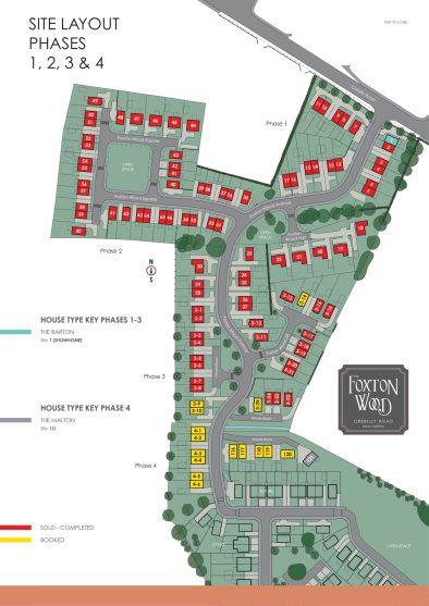 Foxton-Wood-Ph1-4-Aug21 site map
