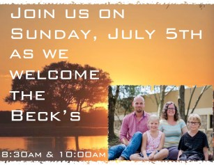 Please support the Beck Family in their missionary work.