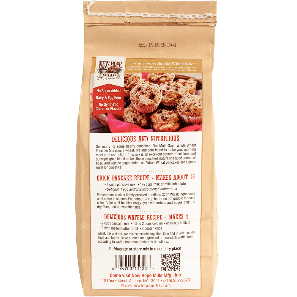 Whole Wheat Pancake Mix New Hope Mills