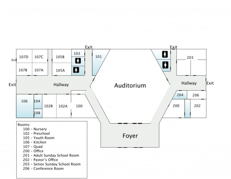 church map layout