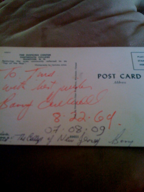 Signed Postcard by Barry Tuckwell