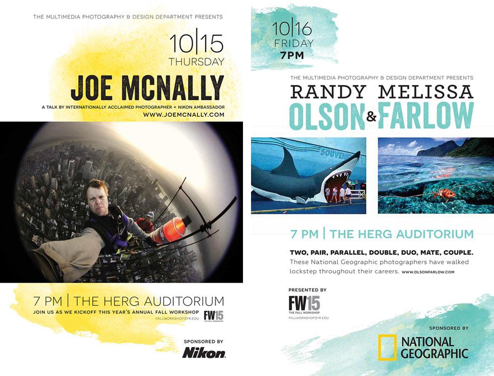 Joe McNally, Melissa Farlow and Randy Olson Photography lectures Newhouse