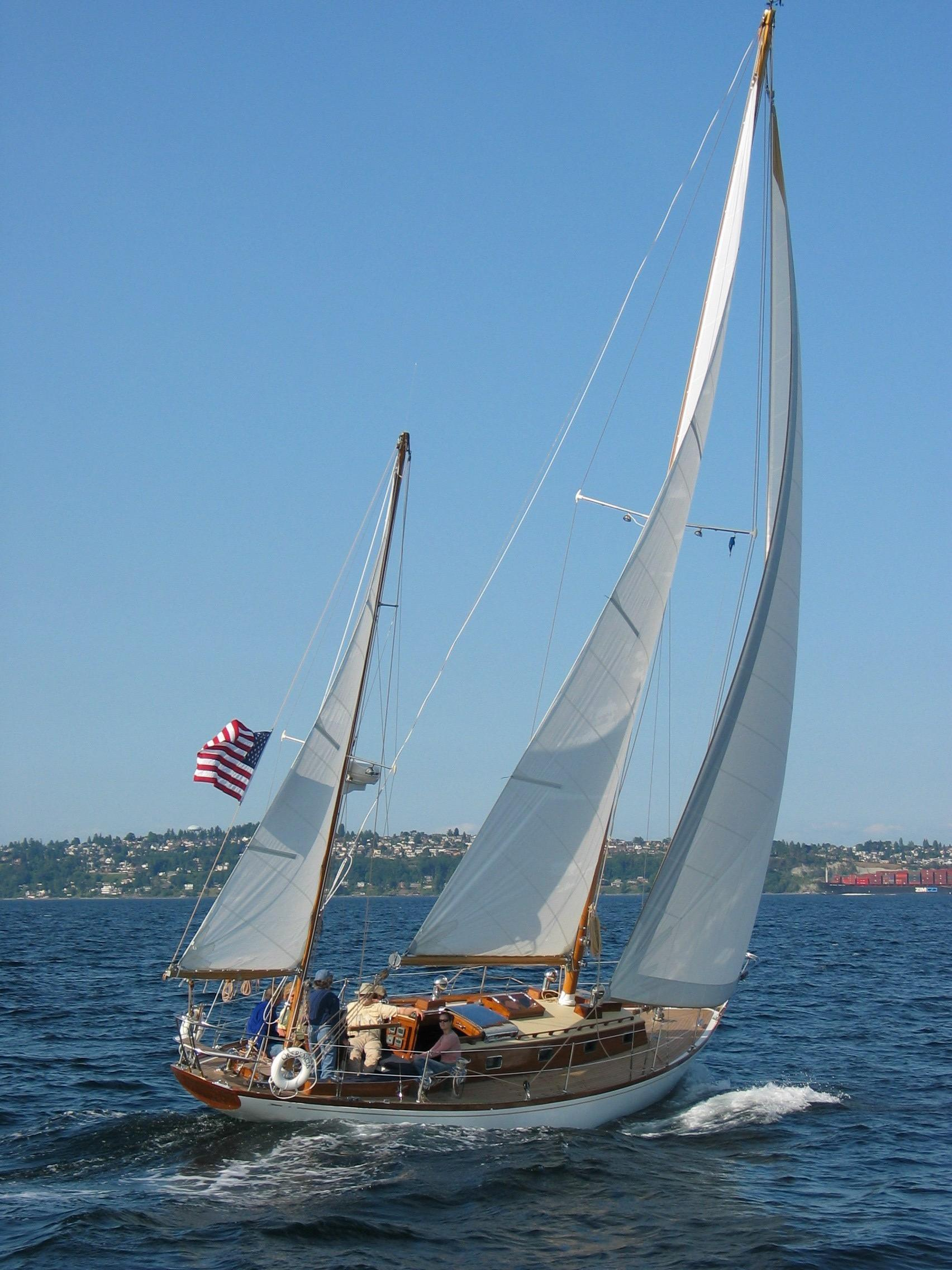 1960 Sparkman Amp Stephens Finisterre Yawl Sail Boat For