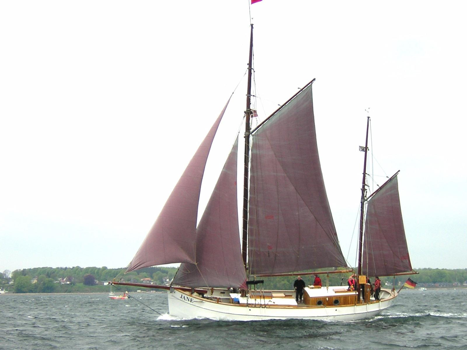 1918 Traditional Danish Gaff Ketch Sail Boat For Sale