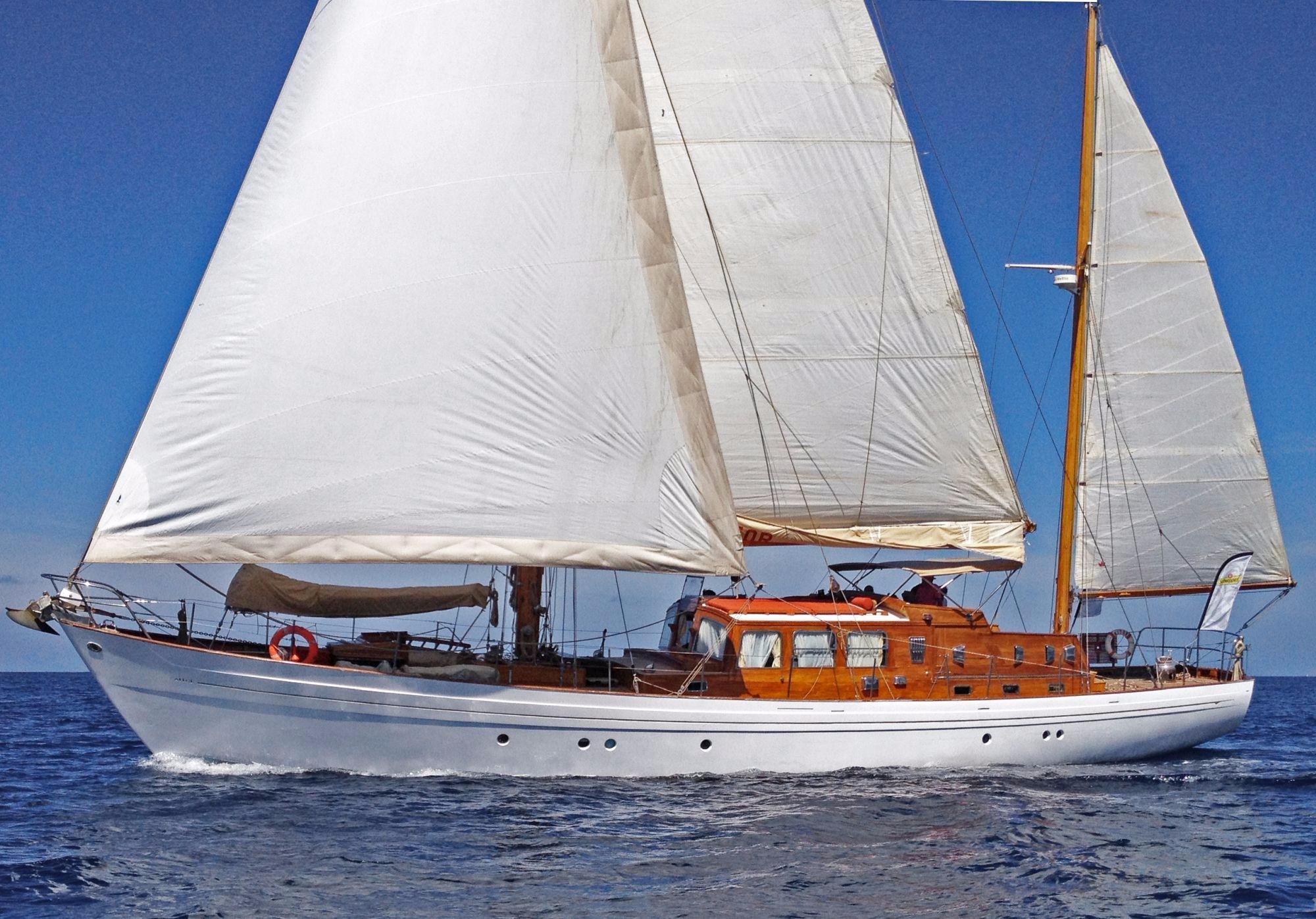 1964 Laurent Giles 72 Ft Motor Sailer Sail Boat For Sale