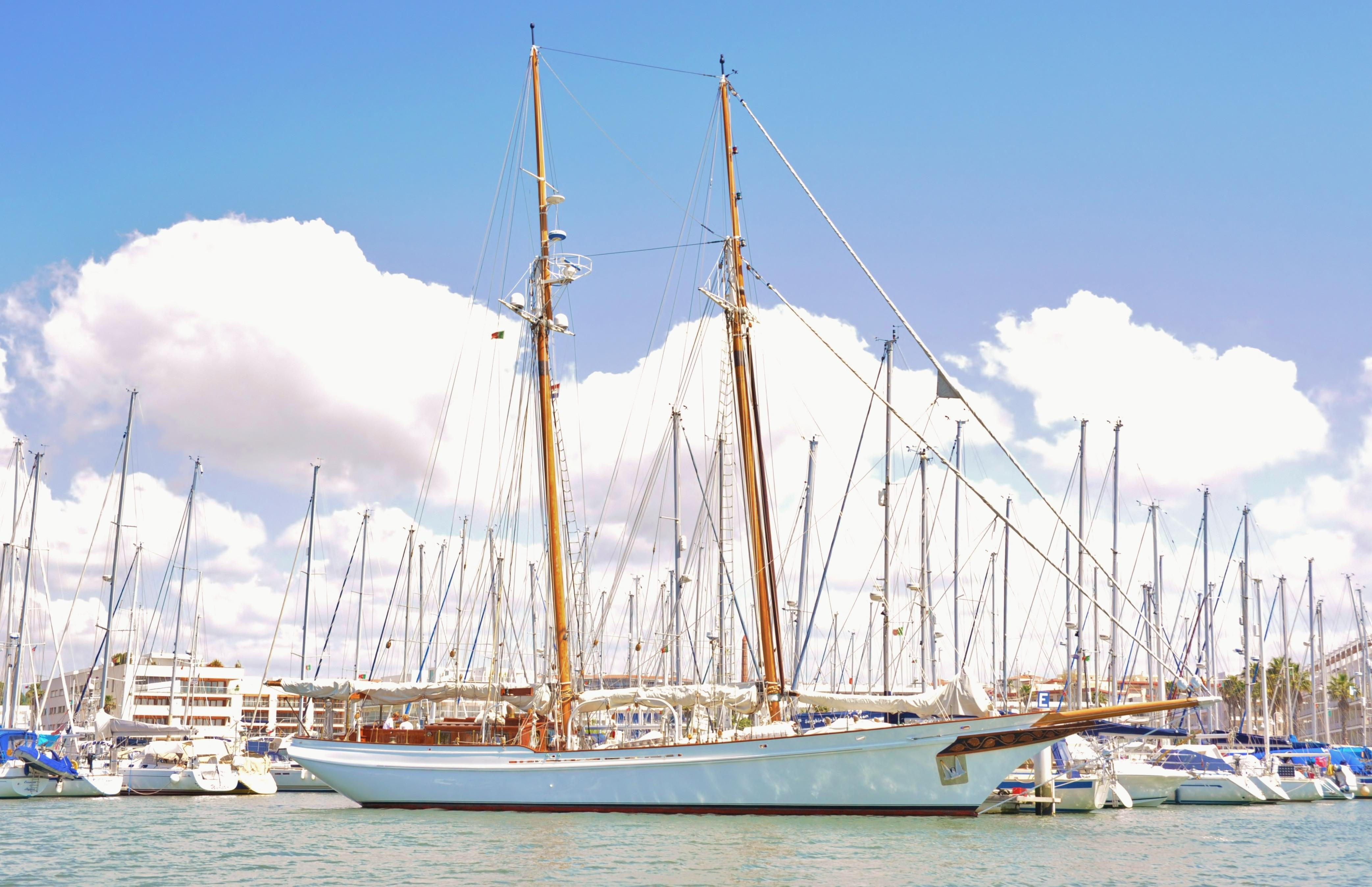 1982 Lubbe Voss Twin Masted Schooner Sail Boat For Sale