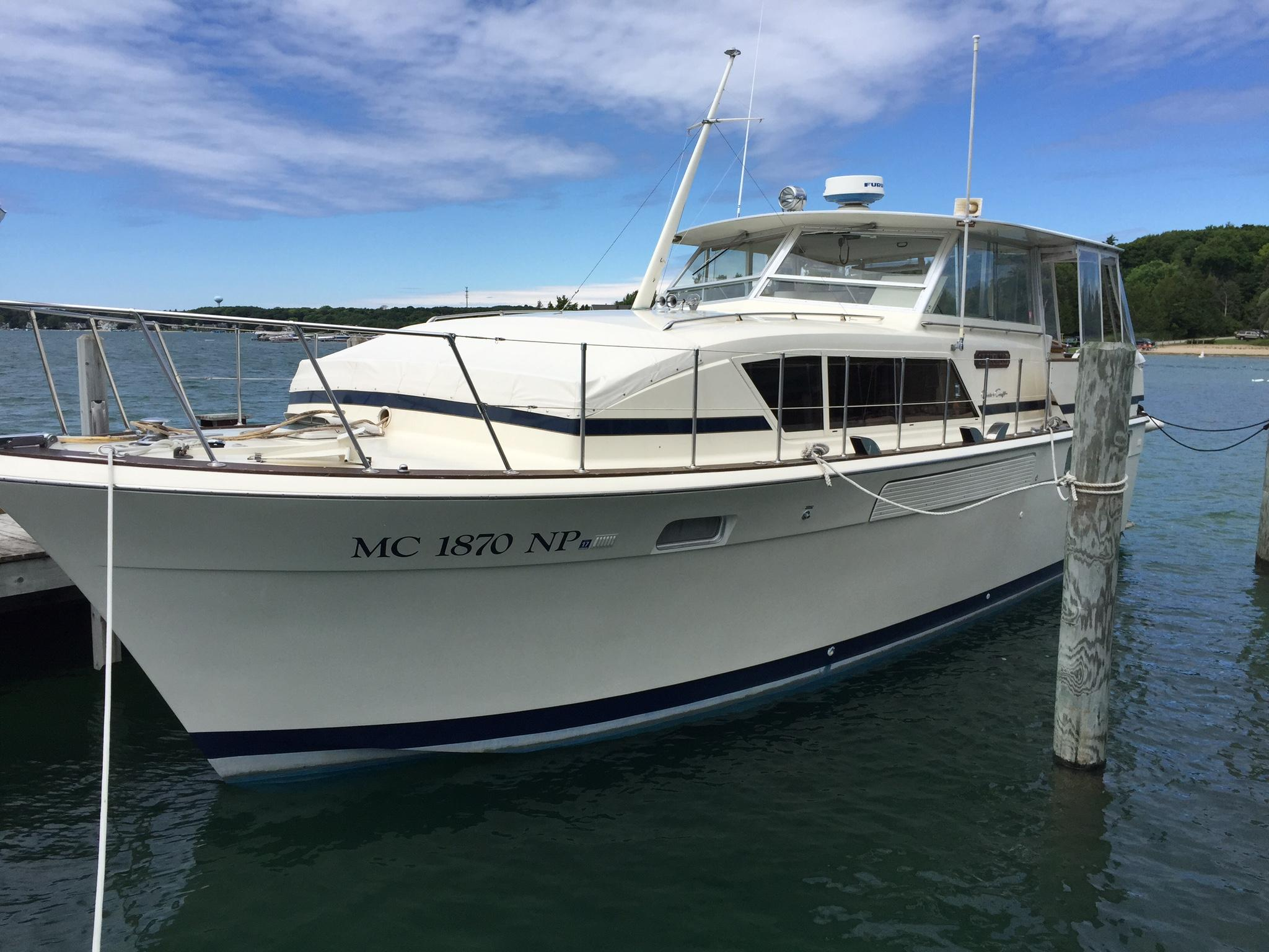 1975 Chris Craft 410 Motor Yacht Power Boat For Sale Www