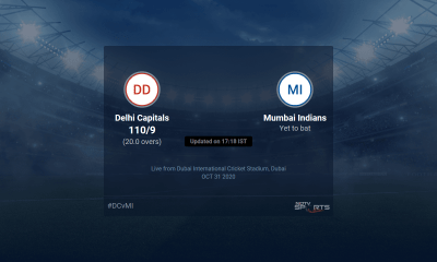 Delhi Capitals vs Mumbai Indians live score over Match 51 T20 16 20 updates | Cricket News