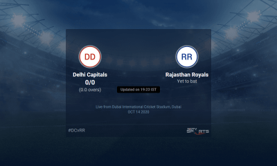 Delhi Capitals vs Rajasthan Royals live score over Match 30 T20 1 5 updates | Cricket News