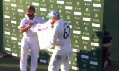 Watch: Ajinkya Rahane Presents Nathan Lyon With Jersey Signed By Team India Players On His 100th Test