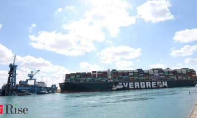 Ship 'partially refloated,' but still stuck in Suez Canal
