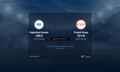 Rajasthan Royals vs Punjab Kings live score over Match 4 T20 11 15 updates | Cricket News