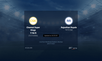 Chennai Super Kings vs Rajasthan Royals live score over Match 12 T20 11 15 updates | Cricket News
