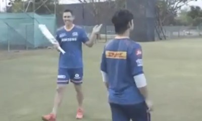 Watch: Mumbai Indians Trent Boult, Ishan Kishan Take On Each Other In