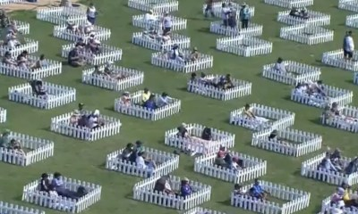 """Watch: Spectators Witness Match At Adu Dhabi Stadium From """"Socially Distanced Family Pods"""""""