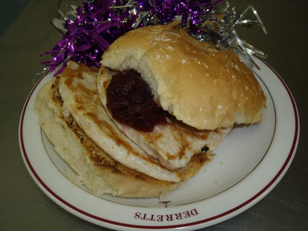 festive turkey steak burger