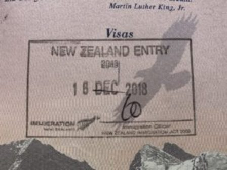 New Zealand Passport Stamp