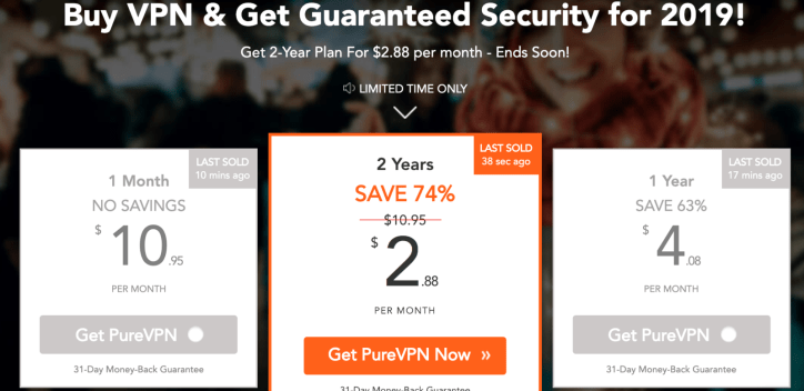 price of purevpn vpn