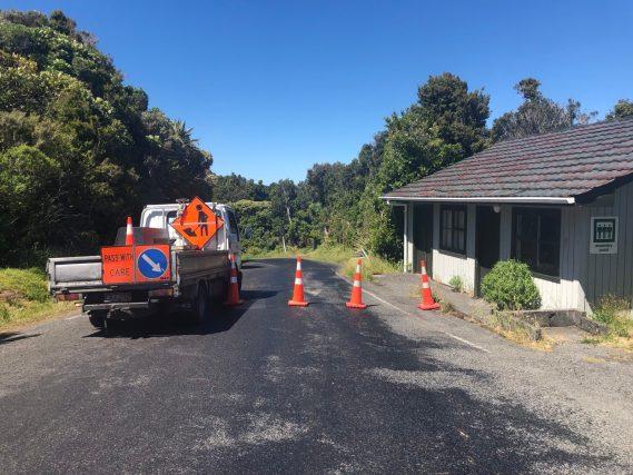 melting New Zealand road