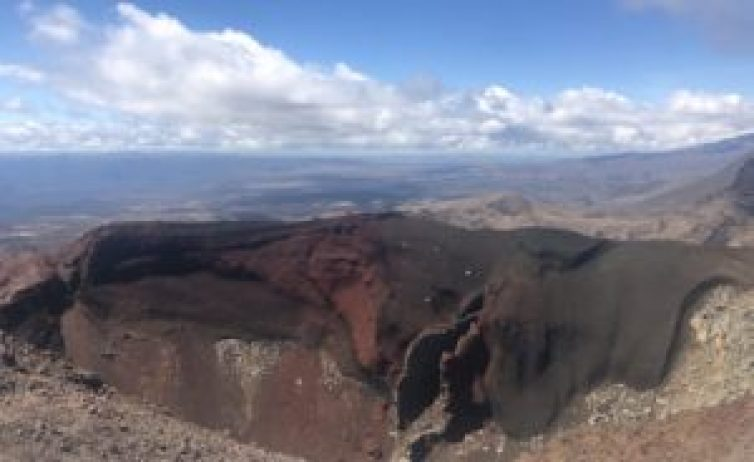 red crater on Tongariro Crossing