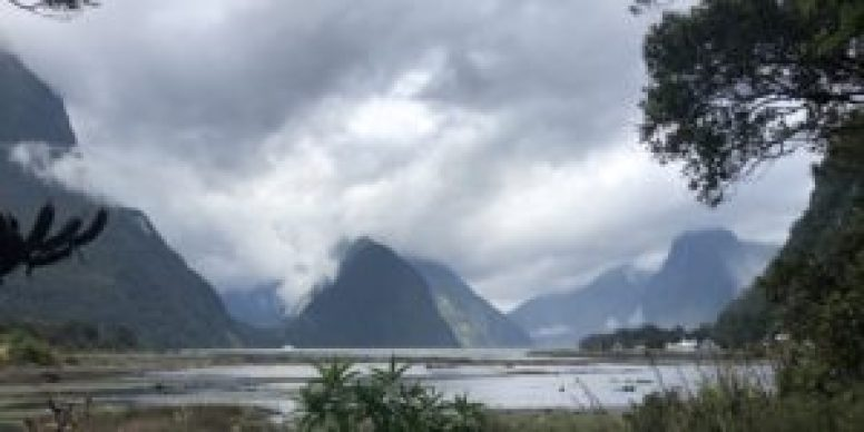 Milford Sound is moody