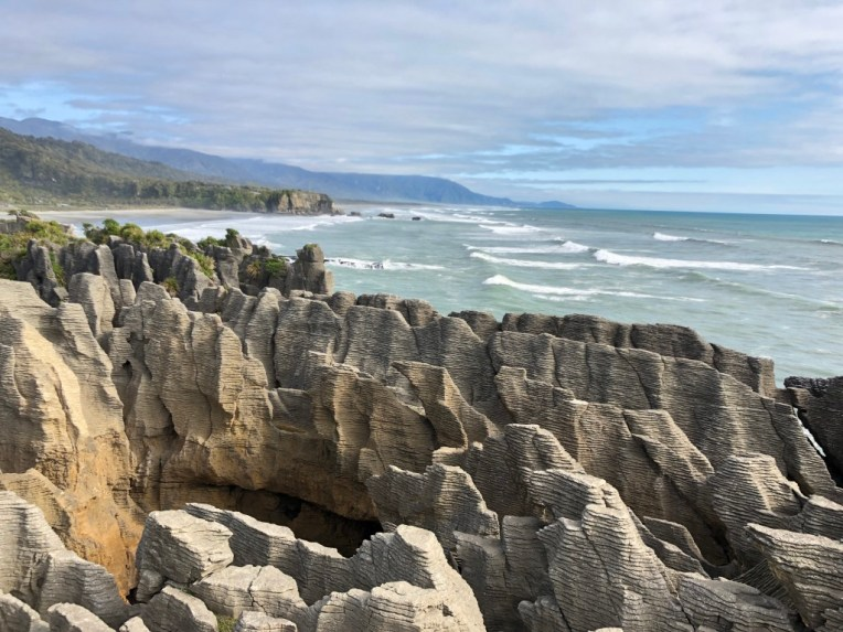 Pancake Rocks and beach
