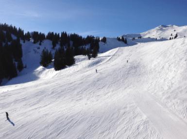 Skiing in Flumserberg