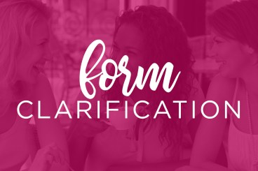 Form Clarification