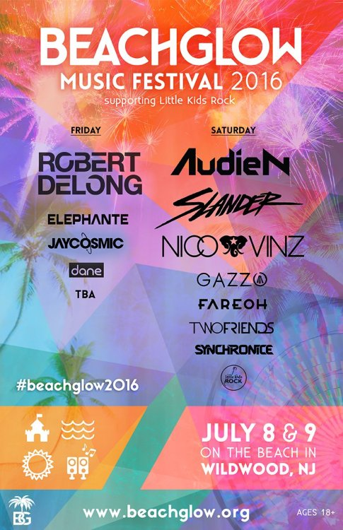 new jersey events - beach glow