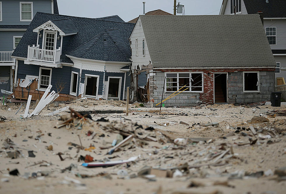 Destruction of two homes after Superstorm Sandy